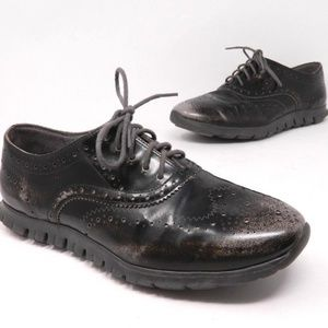 Cole Haan Zero Grand Womens Oxfords Ironstone 8 B
